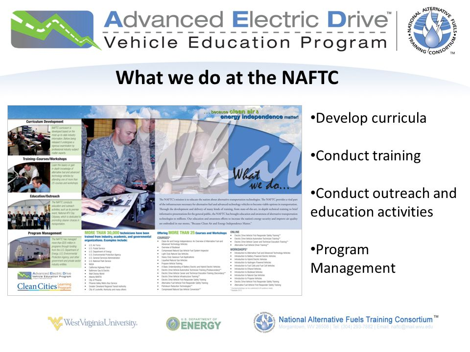 Advanced Electric Drive Vehicle Education Program Funded by the U.S.