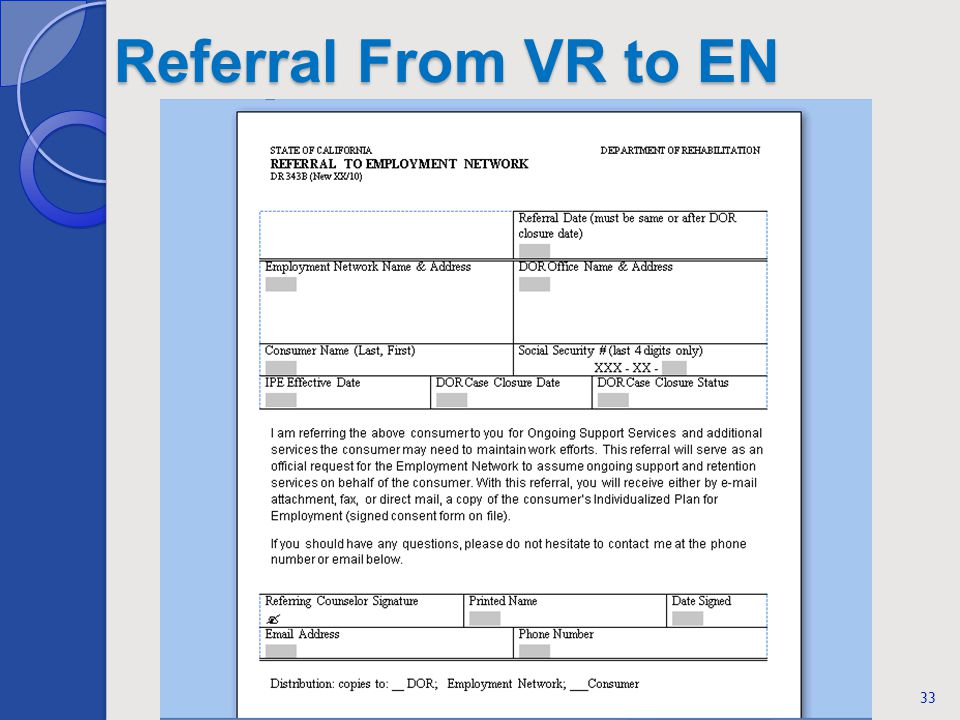 Referral From VR to EN 33