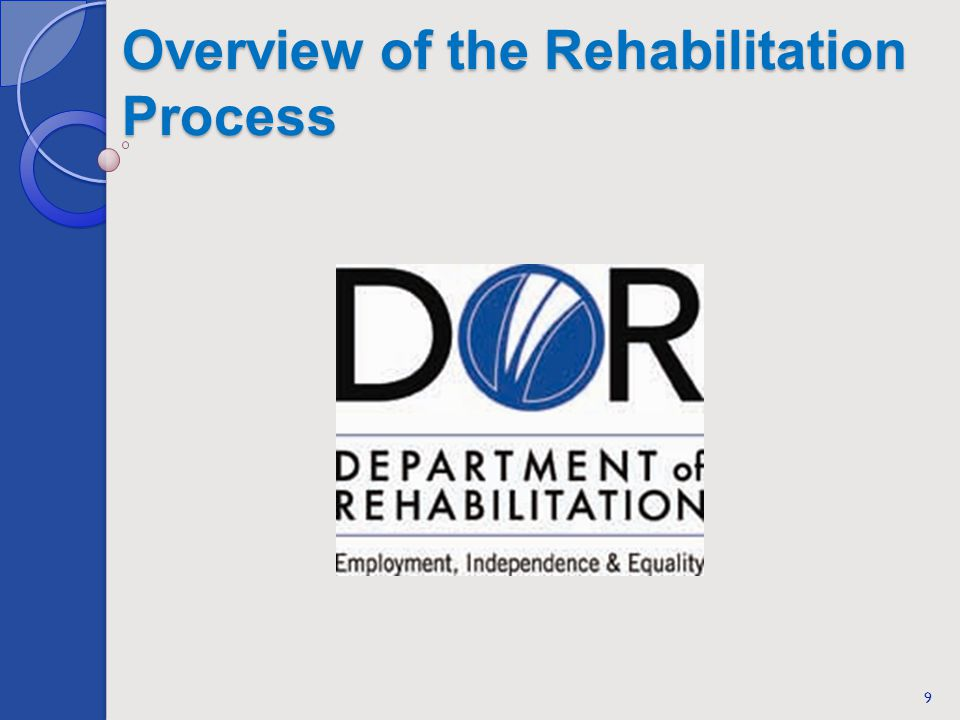 Overview of the Rehabilitation Process 9