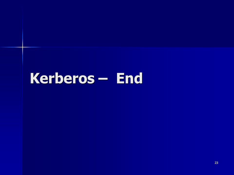 23 Kerberos – End