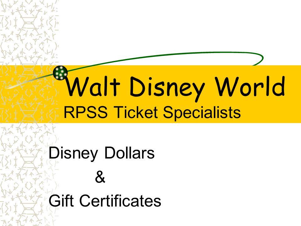 Disney Dollars $1 $10 $5 Press Spacebar