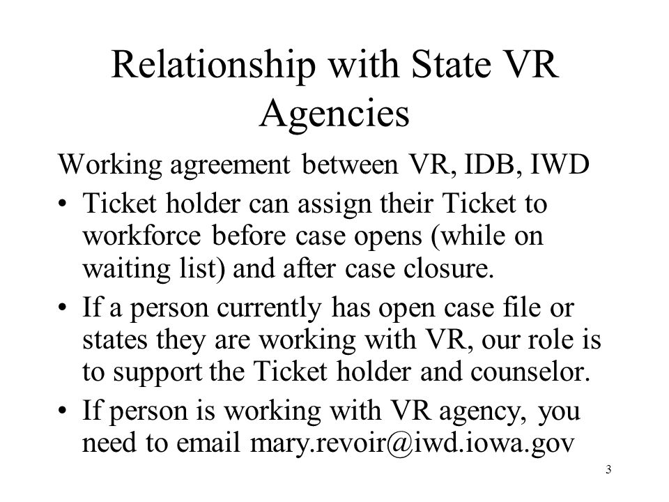 A customer discloses they are on SSI or Social Security Disability benefits All staff and partner staff should act: 1.Staff will treat them as any other customer and invite them to become a Member 2.State the workforce center is an Employment Network and invite them to meet with your contact person.