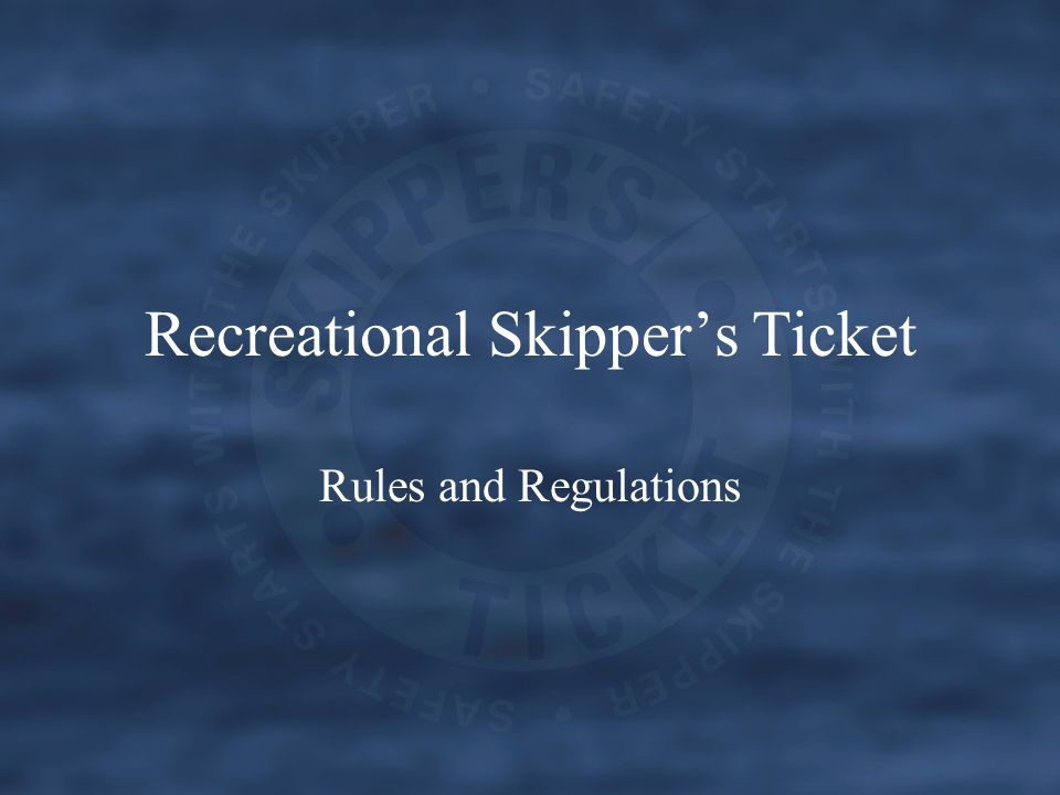 What is the RST Developed by the Department for Planning and Infrastructure, the Recreational Skippers Ticket (RST) will ensure that people in charge of recreational vessels have the minimum skills and knowledge to protect themselves, their passengers, and to share the waterways safely with others.