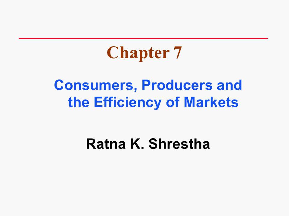 Overview Welfare Economics Consumer Surplus Producer Surplus Market Efficiency