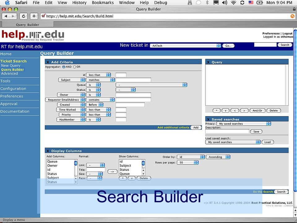 13 IT Partners Conference 19 April 2005 Search Builder