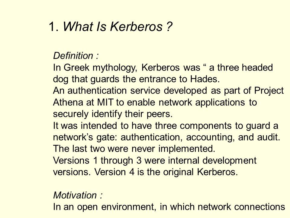 AS TGS Kerberos Client AS TGS Kerberos Server 1 2 3 4 5 6 7 1.