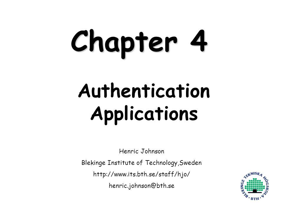 Henric Johnson12 Overview of Kerberos