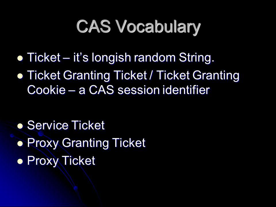 CAS Vocabulary Ticket – its longish random String.