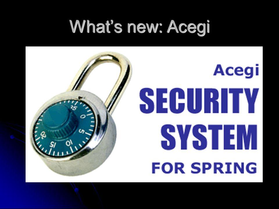 Whats new: Acegi