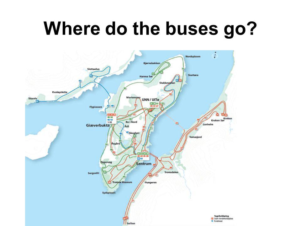 2 main bus stop areas