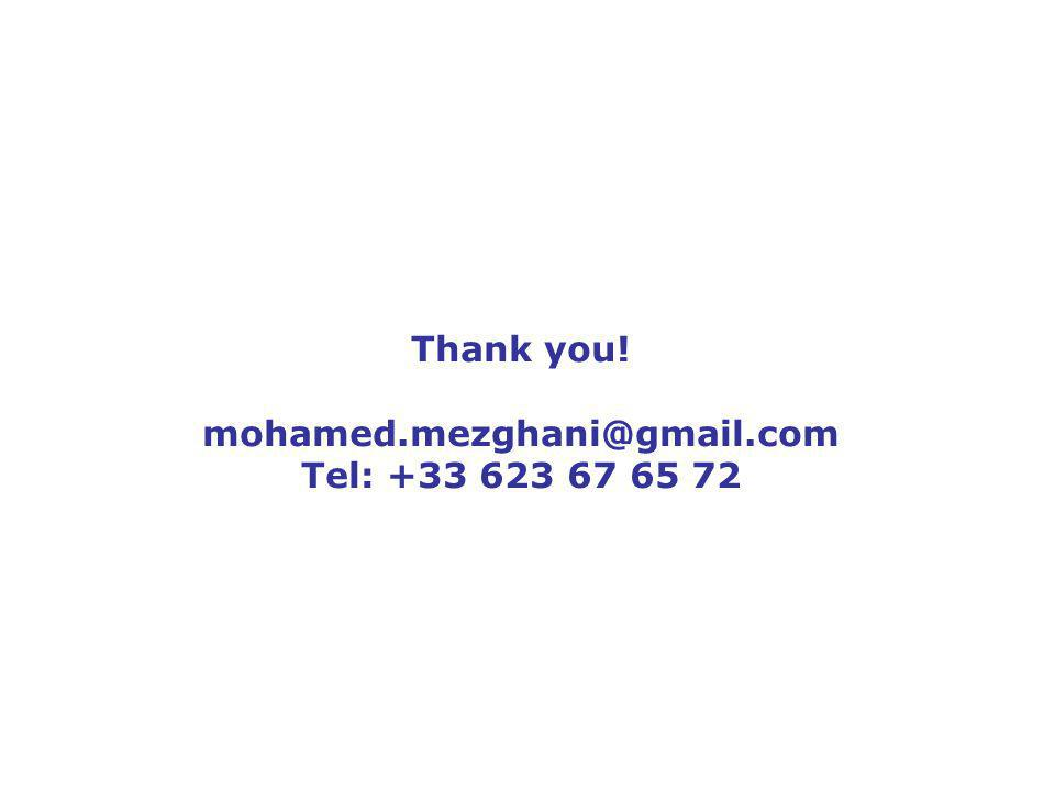 20 Thank you! mohamed.mezghani@gmail.com Tel: +33 623 67 65 72