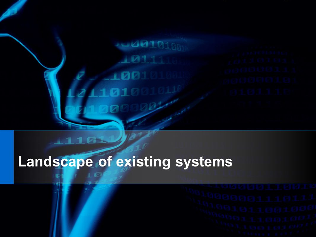 Landscape of existing systems