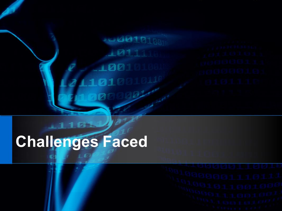 Challenges Faced