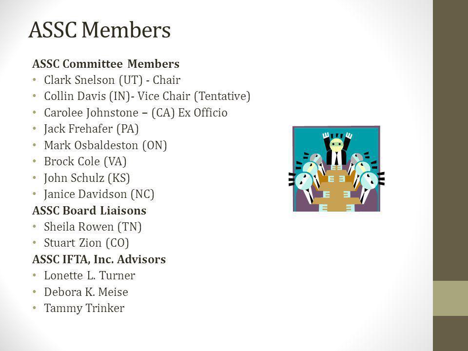 Gary Frohlick (SK) - chair Vicki Haydon (AR) – vice chair Brock Cole (VA) Dave Nicholson (OK) Dawn Lietz (NV) Doug Miller (MI) Gary Bennion (Con-way) Jack Frehafer (PA) Committee Membership