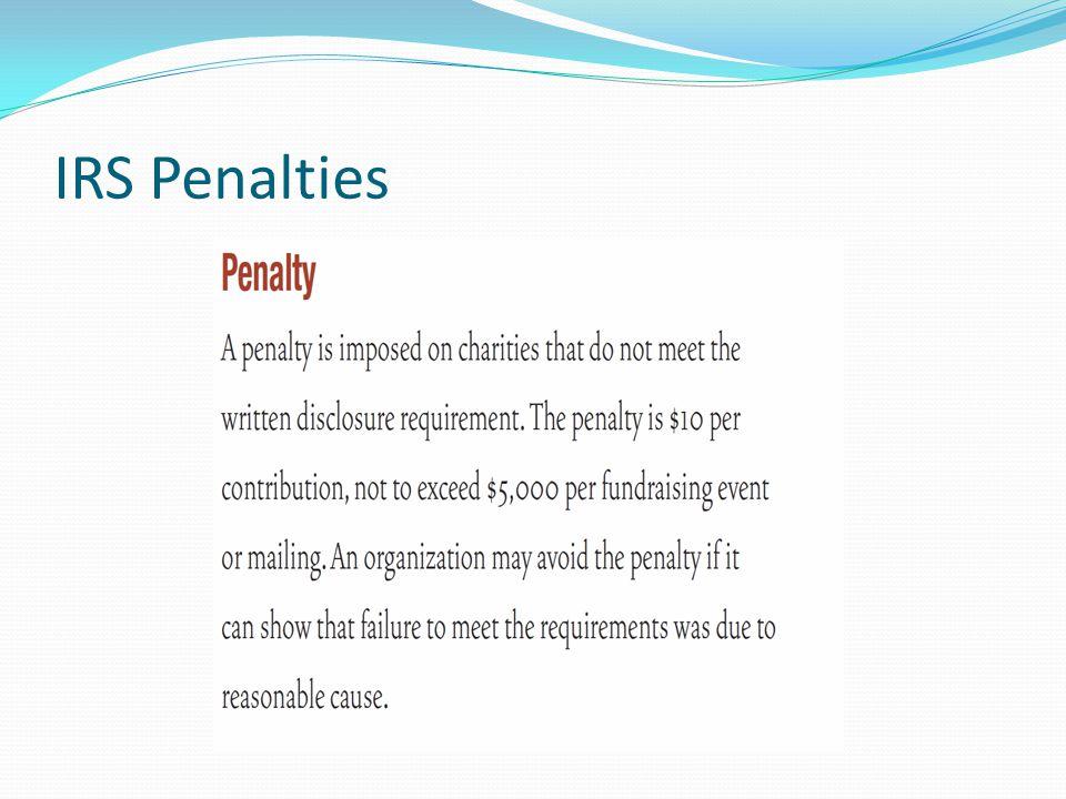 IRS Penalties