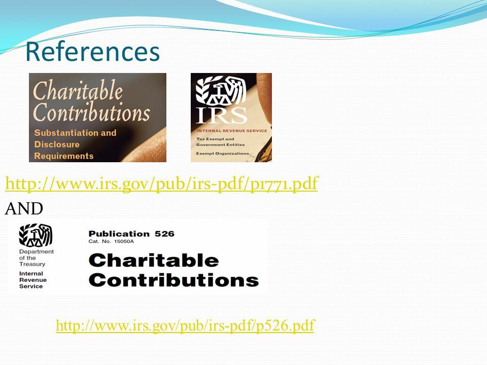 References http://www.irs.gov/pub/irs-pdf/p1771.pdf AND http://www.irs.gov/pub/irs-pdf/p526.pdf