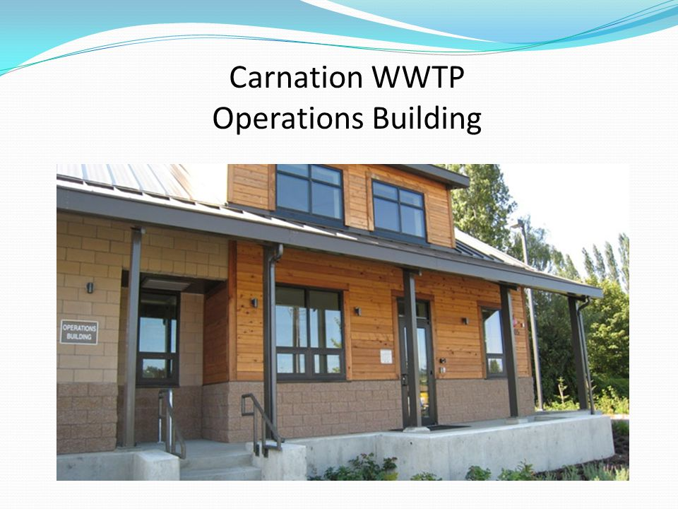 Carnation WWTP Operations Building