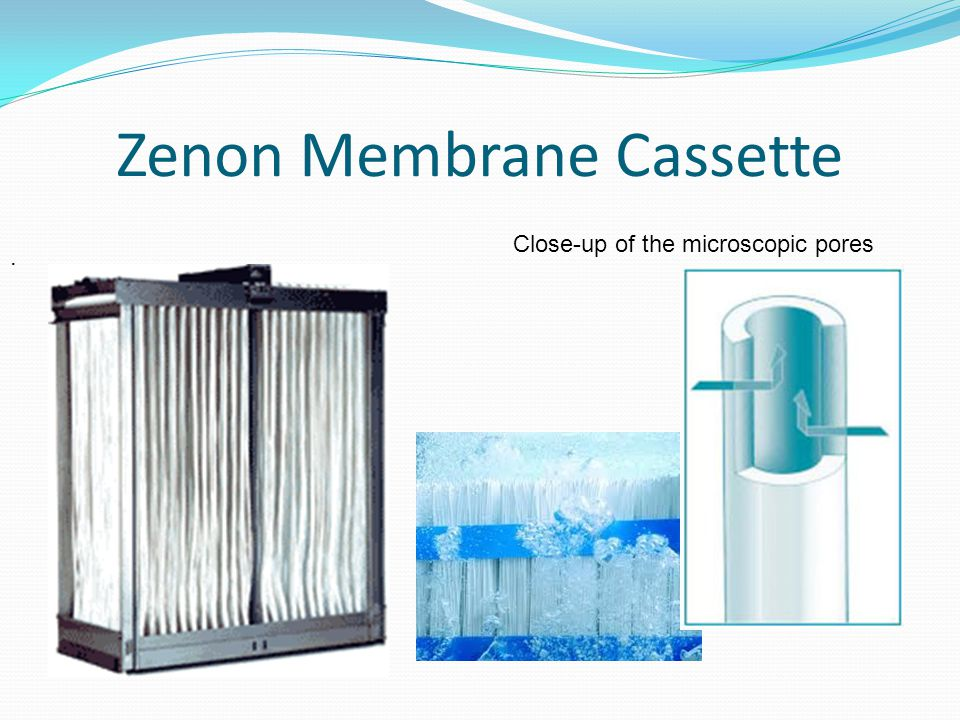 Zenon Membrane Cassette. Close-up of the microscopic pores