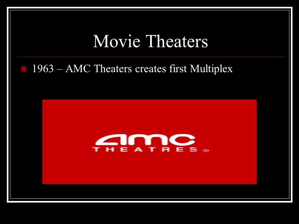 Movie Theaters 1995 – First Megaplex (18 or more screens) in United States is opened by AMC in Dallas, TX