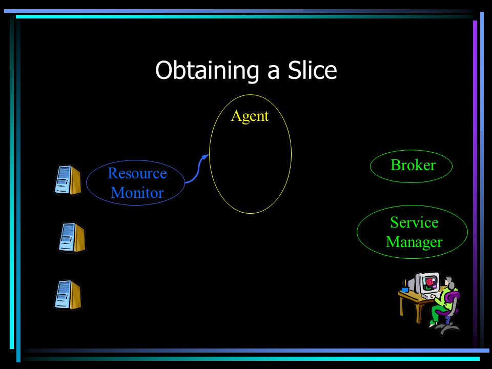 Obtaining a Slice Agent Service Manager Broker Resource Monitor