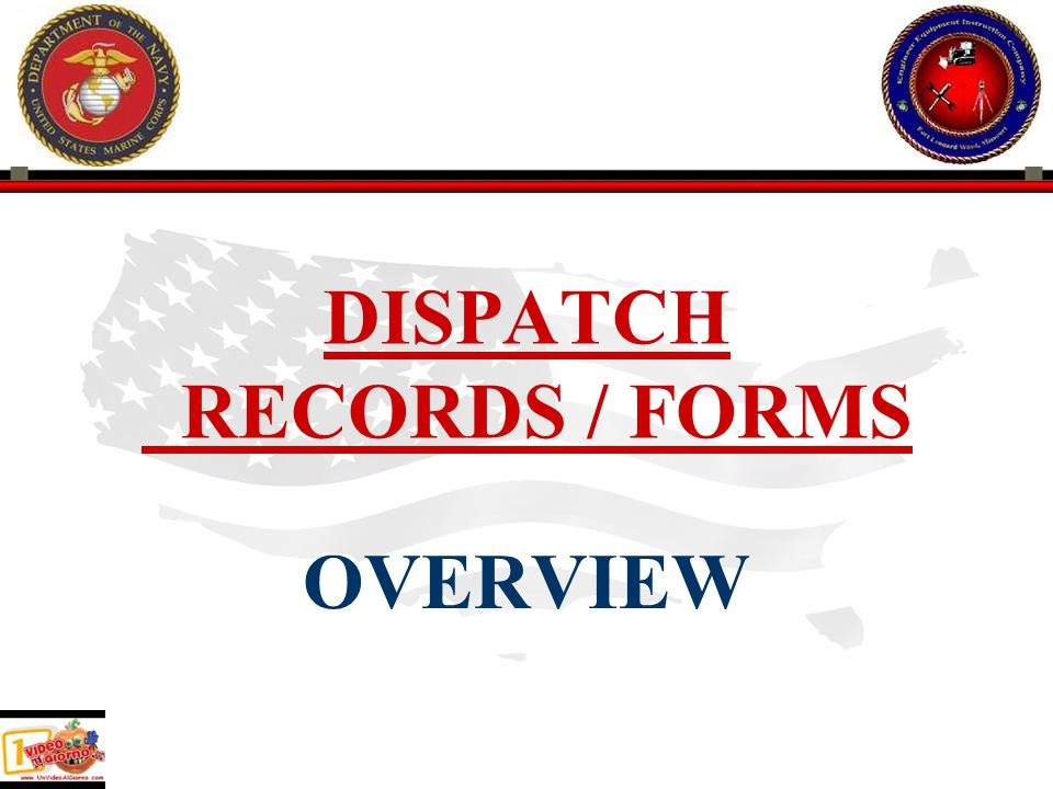 RESPONSIBILITIES CONT.MCLB first receives equipment and establishes 696D.