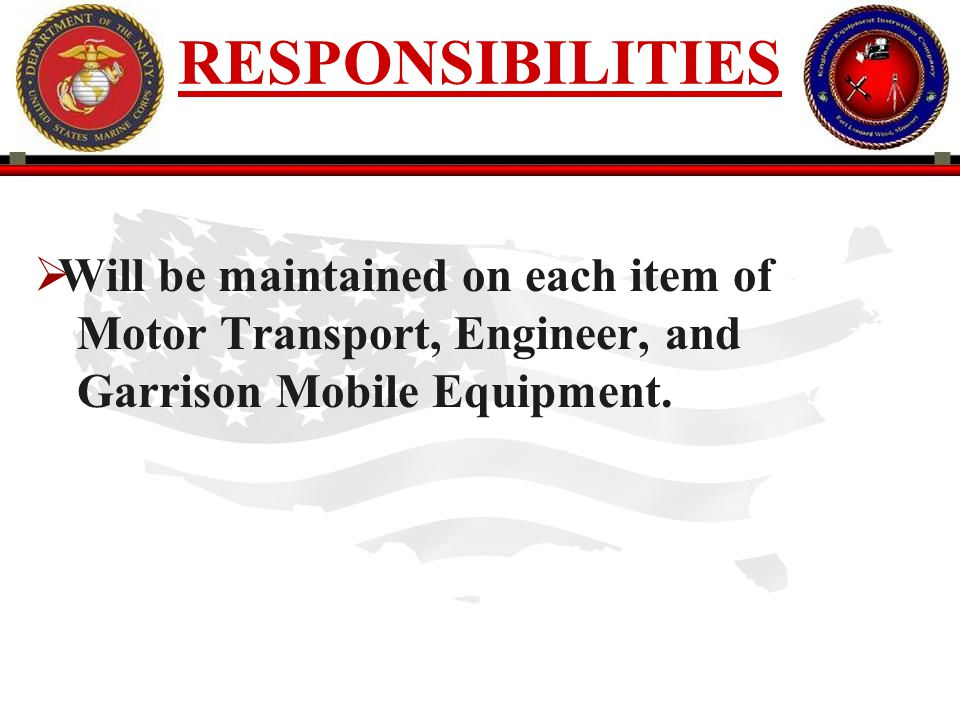 250 ENGINEER EQUIPMENT INSTRUCTION COMPANY Status Date: enter the 4 digit Julian date when the change occurred.