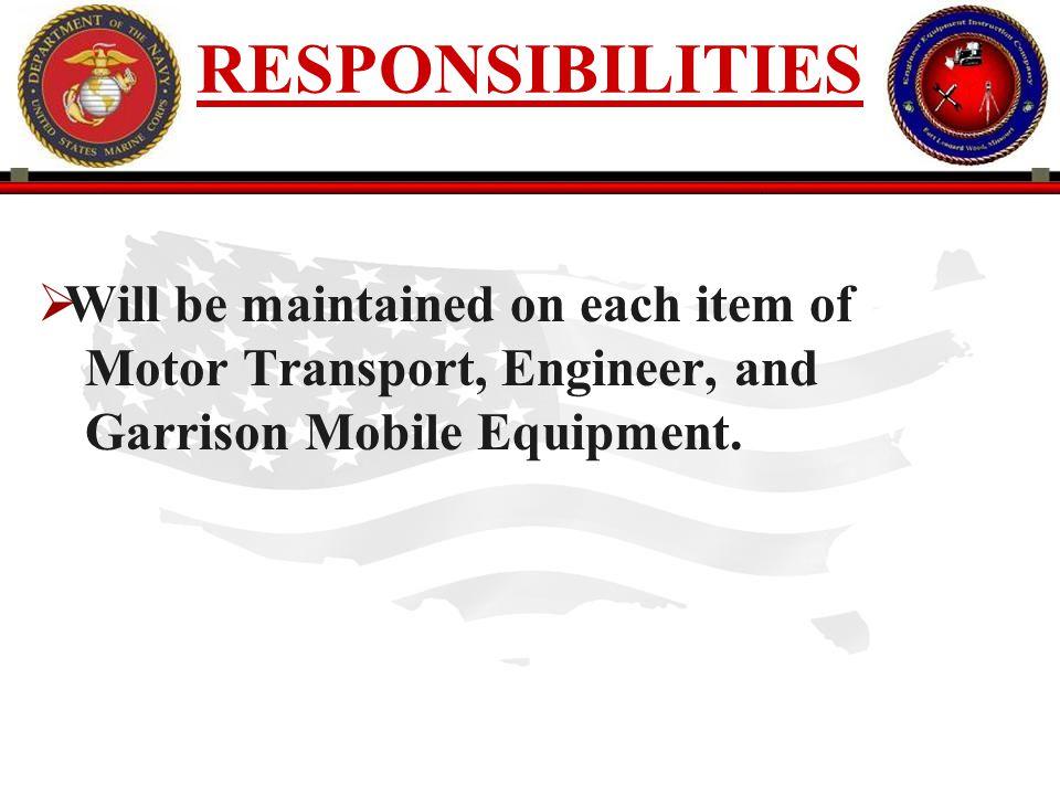190 ENGINEER EQUIPMENT INSTRUCTION COMPANY PURPOSE CONT.