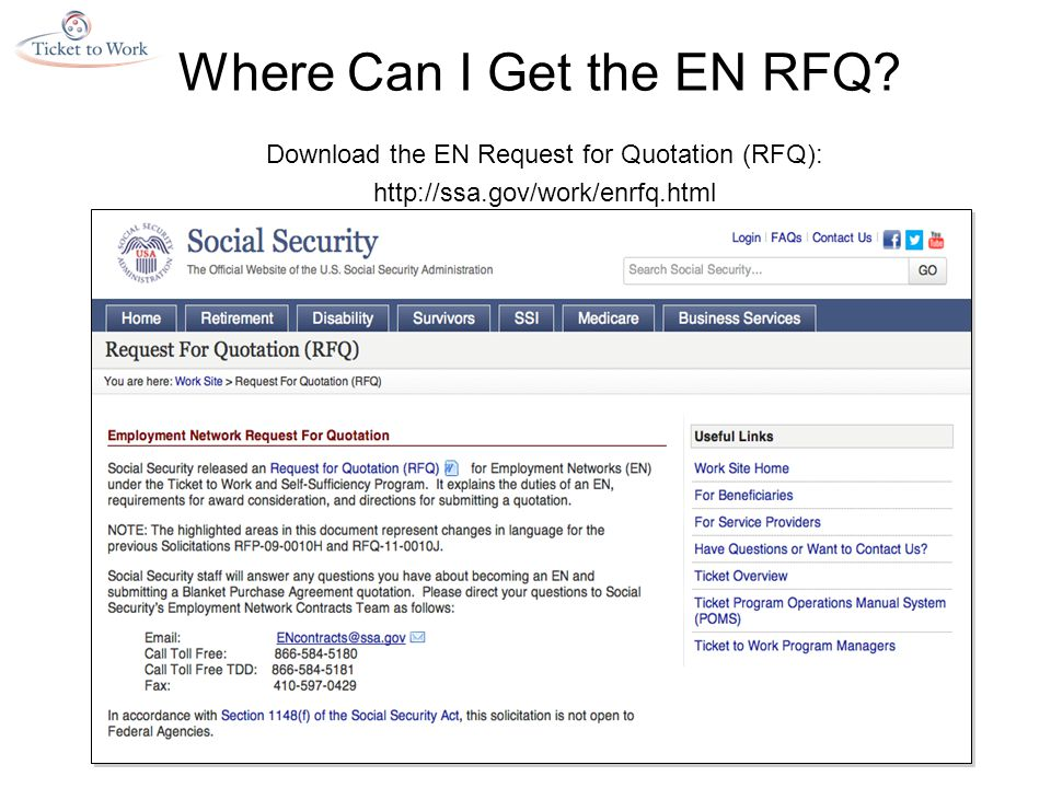 Where Can I Get the EN RFQ.