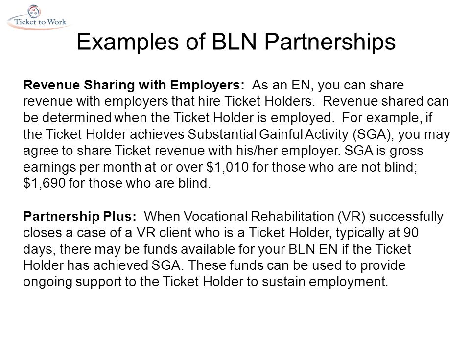 Revenue Sharing with Employers: As an EN, you can share revenue with employers that hire Ticket Holders.