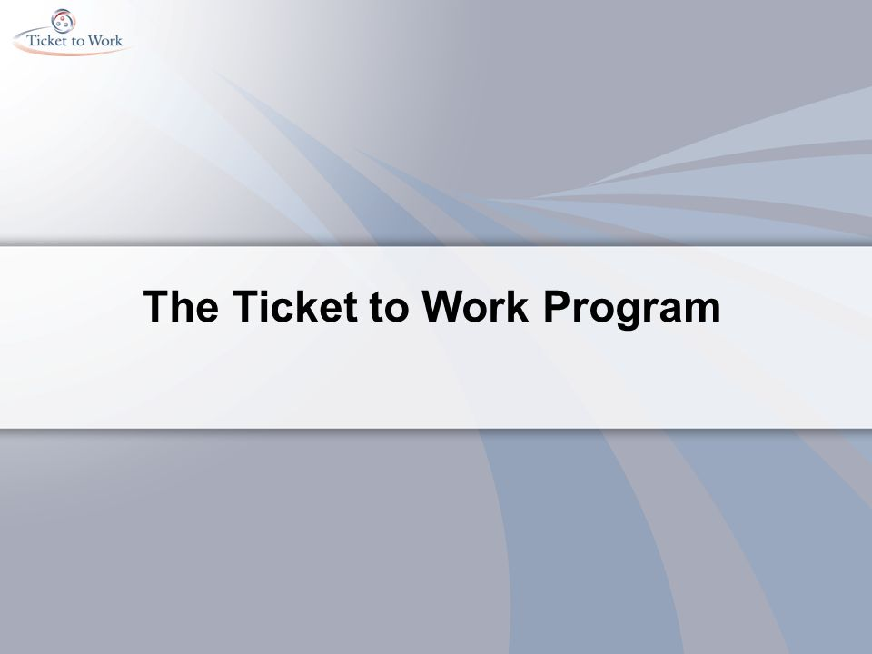 The Ticket to Work Program