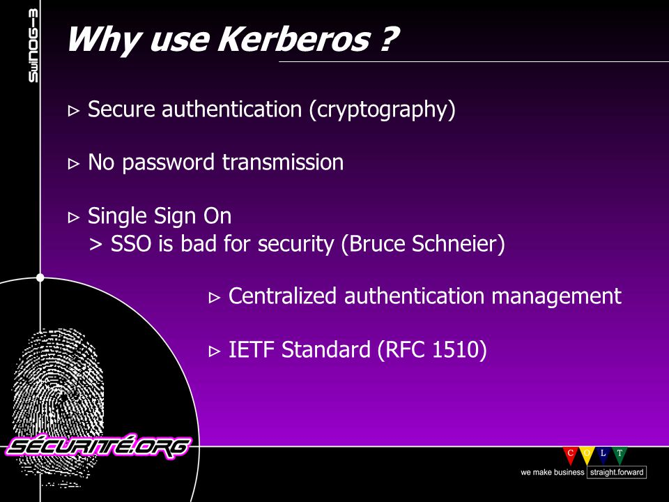 Kerberos vocabulary (1) KDC : Key Distribution Center.