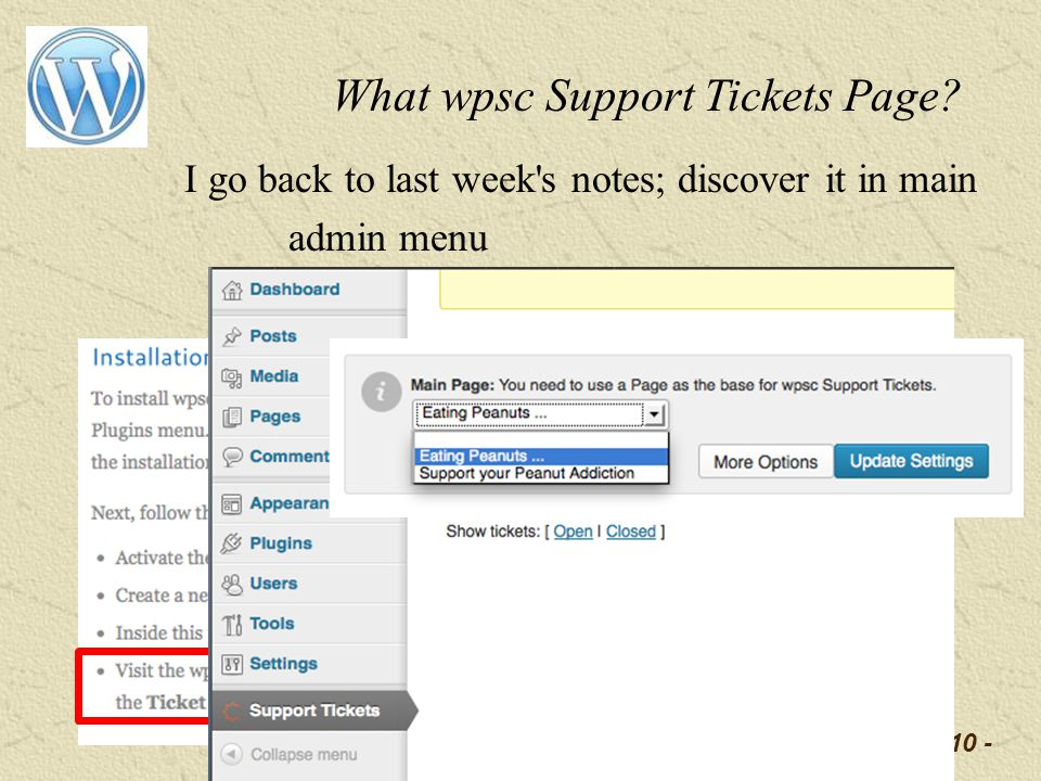 -10 - What wpsc Support Tickets Page.