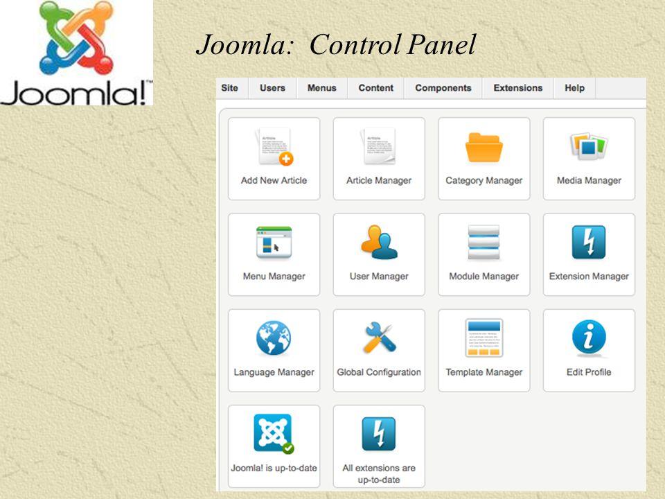 -28 - Joomla: Control Panel