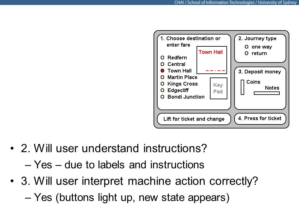 20 2. Will user understand instructions. –Yes – due to labels and instructions 3.