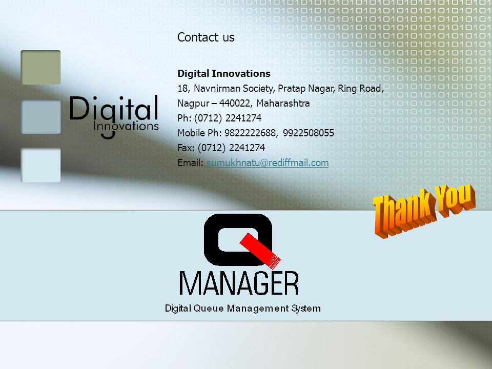 Contact us Digital Innovations 18, Navnirman Society, Pratap Nagar, Ring Road, Nagpur – , Maharashtra Ph: (0712) Mobile Ph: , Fax: (0712)