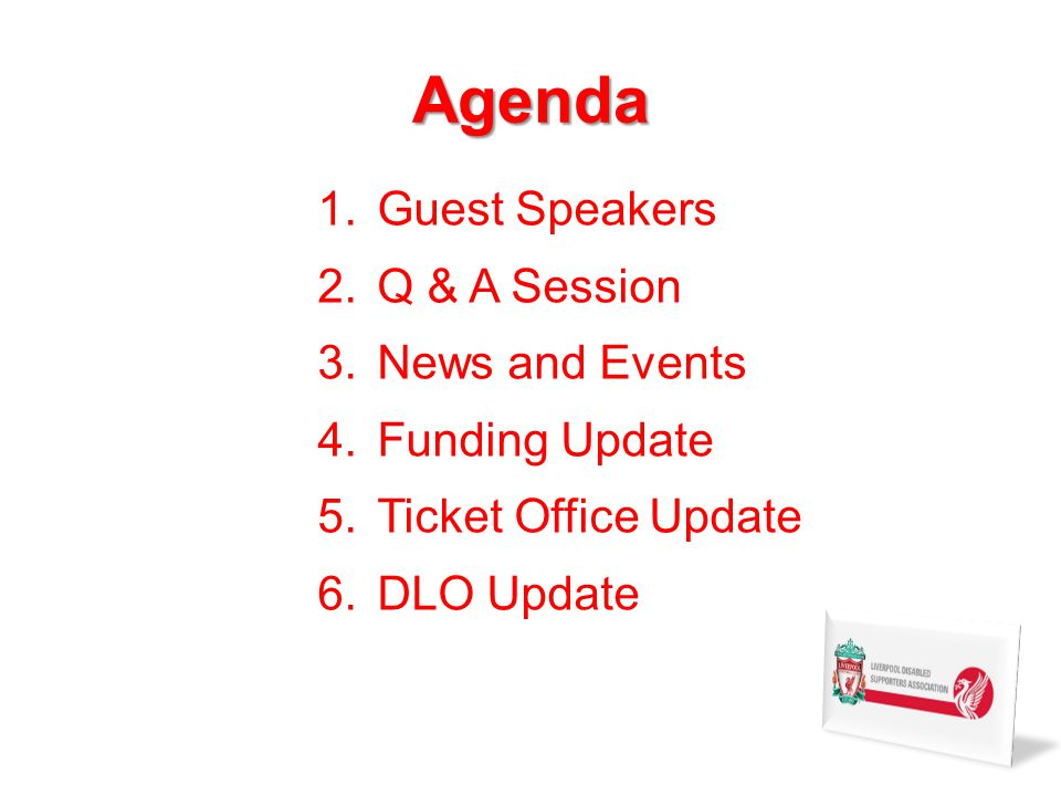 News and Events cont. LDSA WEB PAGE –The LDSA has now a link on the LFC web page