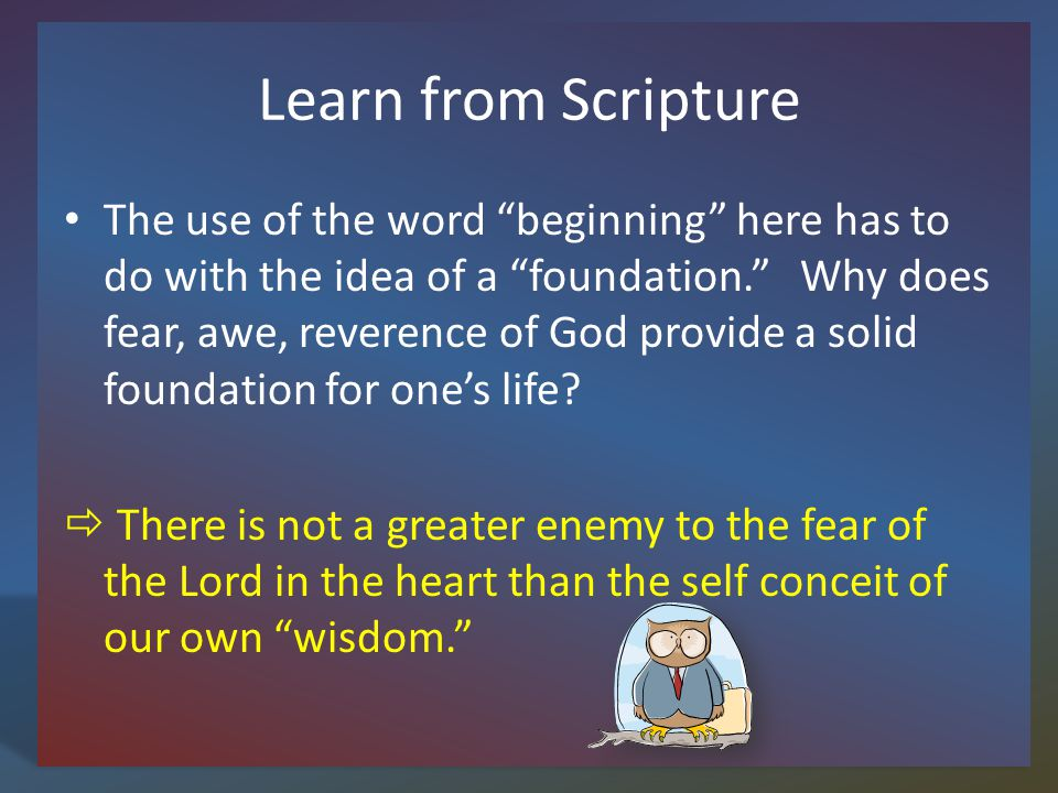 Learn from Scripture What are benefits of living wisely, living according to the wisdom Solomon wrote of.