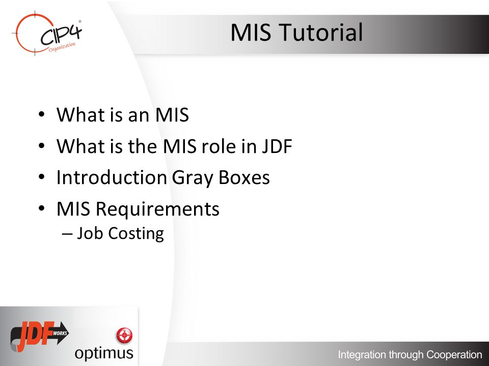 JMF Status Signals JDF snapshot (2) – Must contain: Process node that is executing (not complete JDF if non-spawned JDF was received) Complete AuditPool including Audit for this JobPhase