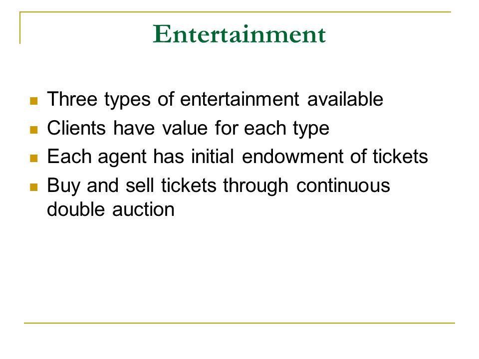 Agent Themes Agents have to address: When to Bid What to Bid On How Much to Bid Combinatorial preferences, but not combinatorial auctions