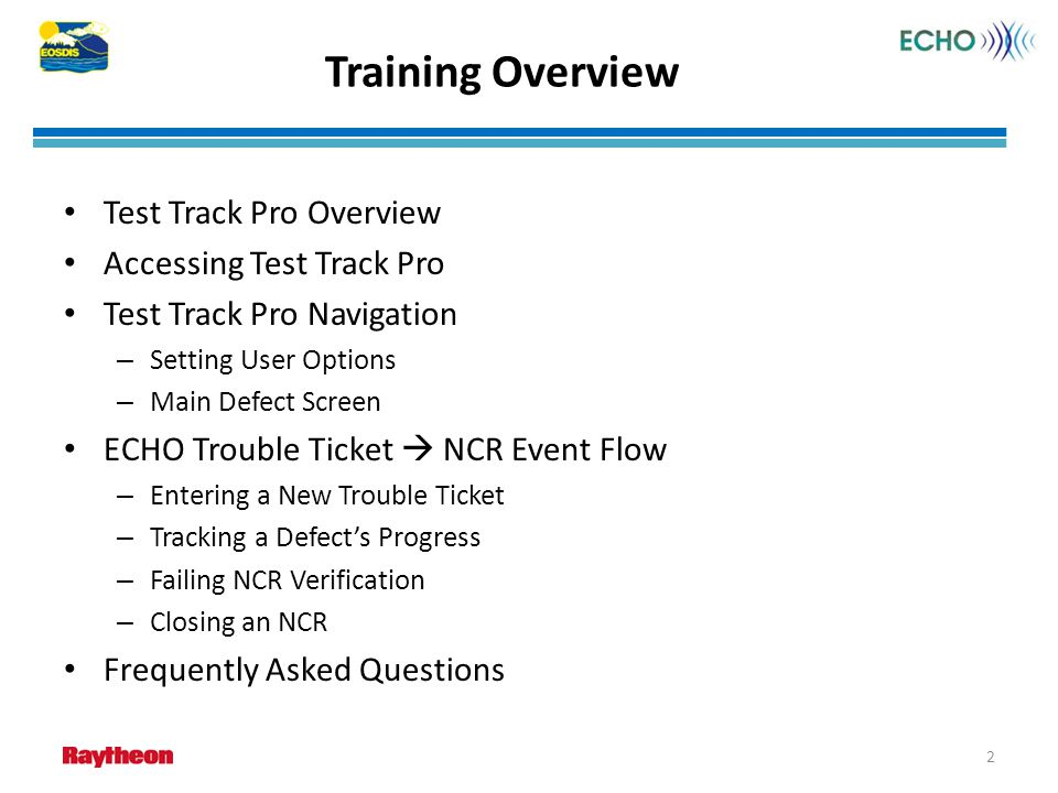 Test Track Pro Overview The use of the TestTrack Pro (TTPro) COTS product is to provide a centralized bug tracking system.