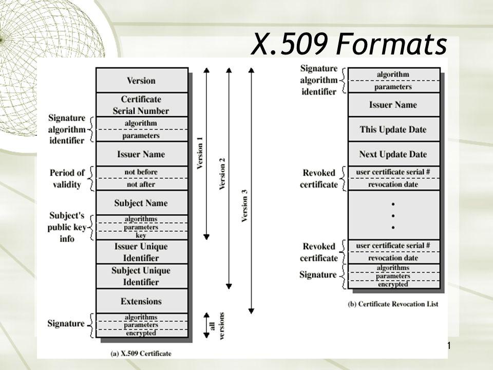 21 X.509 Formats