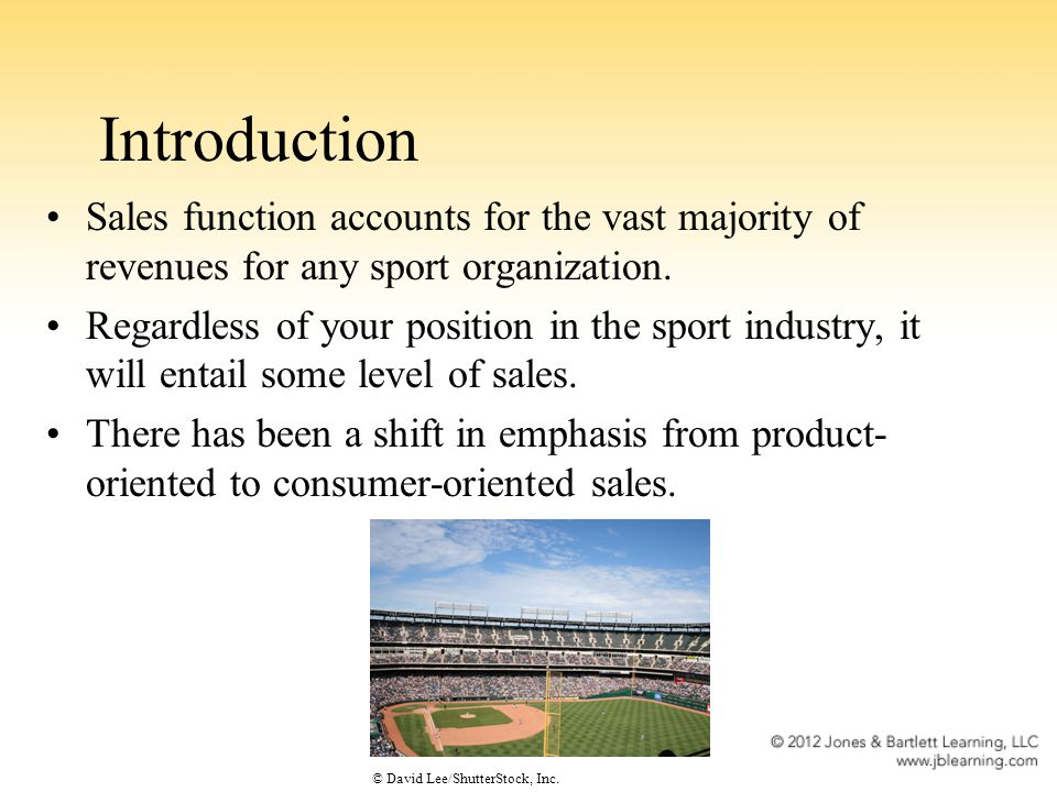 Sales Inventory: Naming Rights Opportunity to sell entitlement of arena or stadium, practice facility, or the team itself New phenomenon resulting in a significant new revenue stream for sport organizations Includes clauses designed to ensure that sport organizations get back for free their ability to sell their facilitys name if the purchasing company becomes insolvent