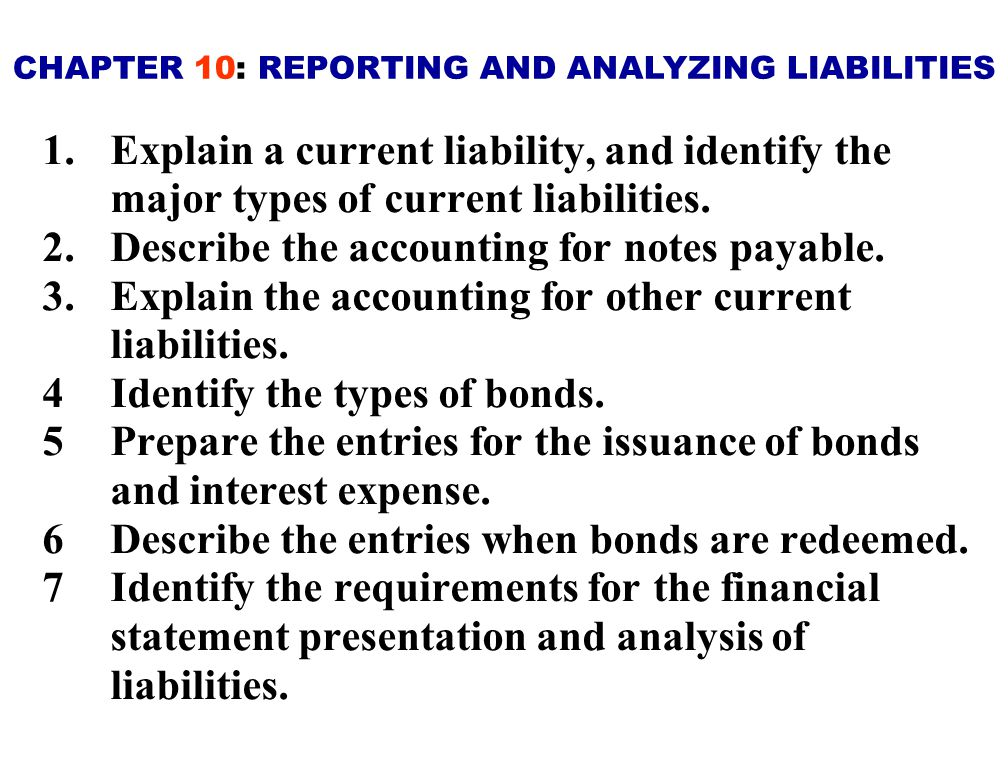 A Current Liability is a debt with two key features: 1) expected to be paid from existing currents assets or through the creation of other current liabilities 2) paid within one year or the operating cycle, whichever is longer.