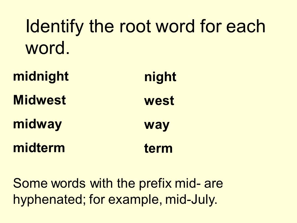 These words begin with the prefix mid-.