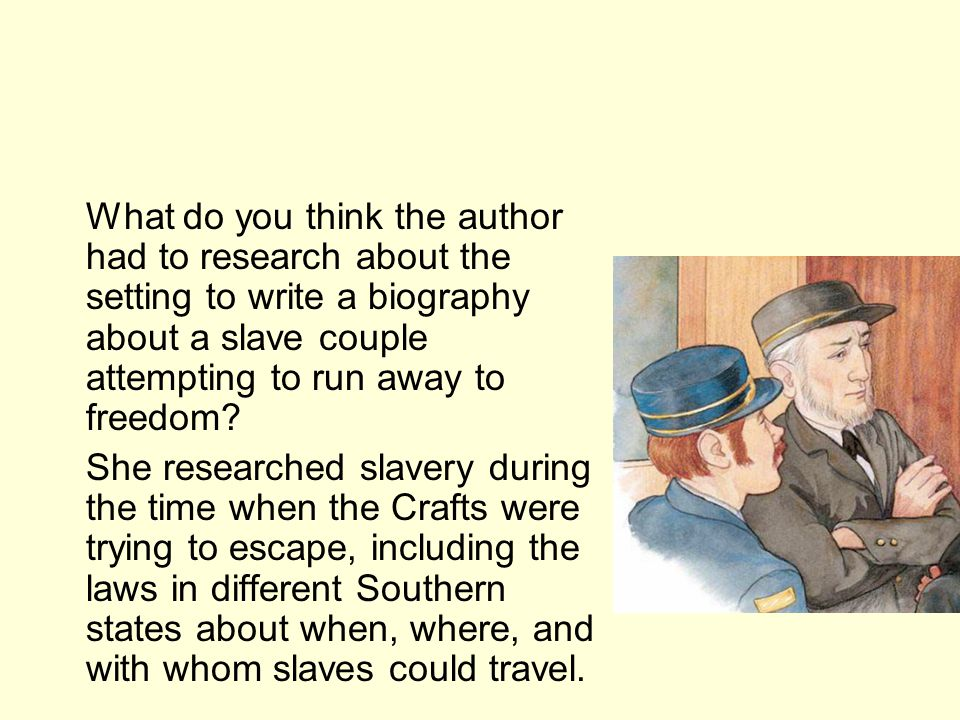 Authors Purpose In a biography, the authors purpose usually is to inform readers about he lives of the subjects.