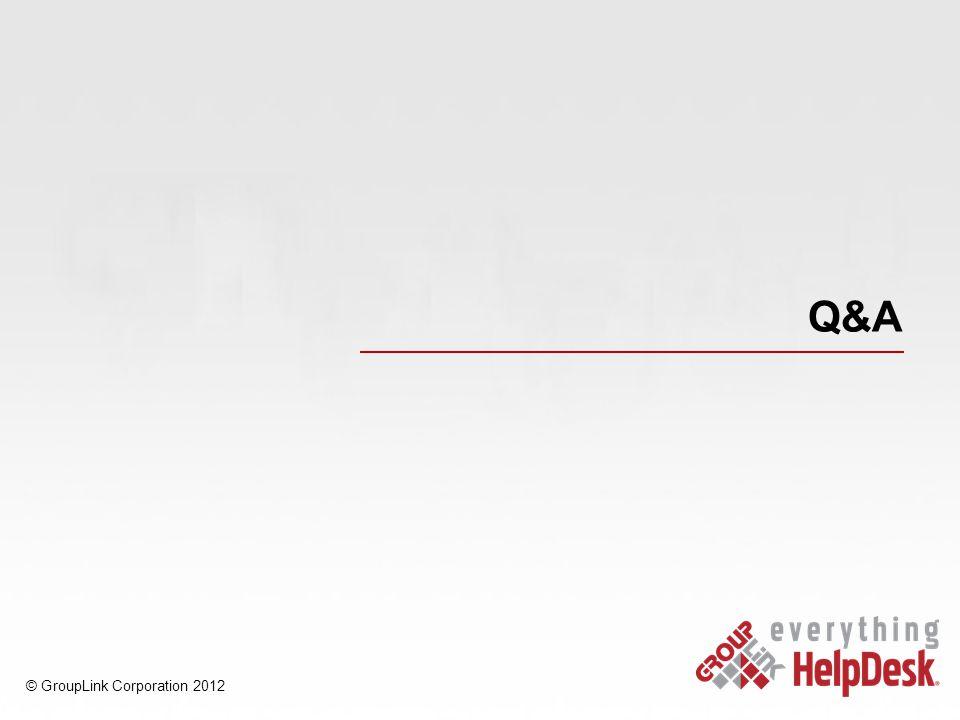 Q&A © GroupLink Corporation 2012