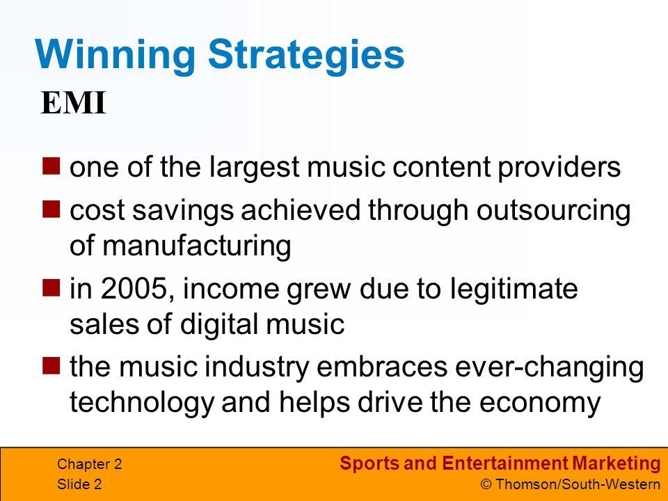 Sports and Entertainment Marketing © Thomson/South-Western Chapter 2 Slide 3 Lesson 2.1 Sports and Entertainment Economics Goals Define profit and explain the profit motive.