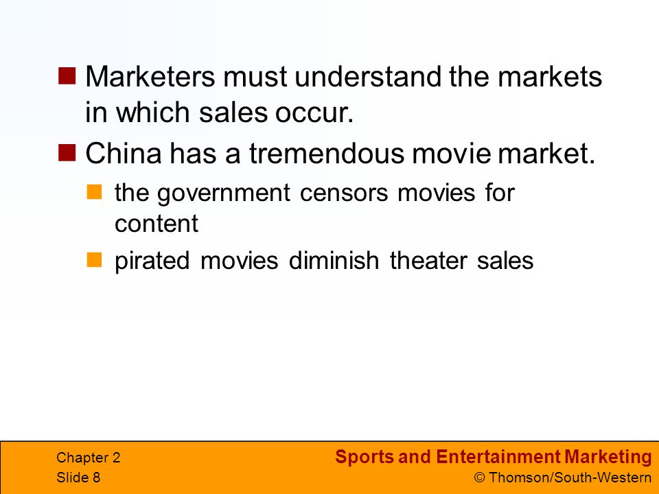 Sports and Entertainment Marketing © Thomson/South-Western Chapter 2 Slide 39 Lesson 2.4 Financial Analysis Goals Discuss sources of funding and revenue for sports and entertainment businesses.