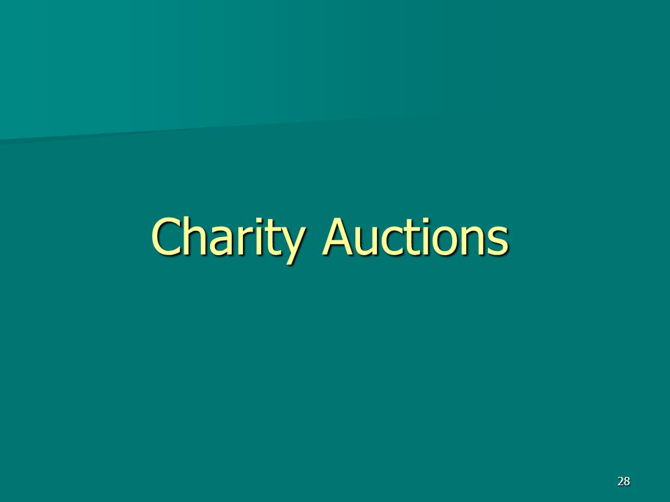 28 Charity Auctions