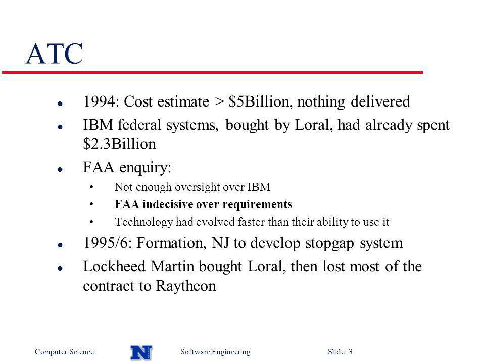 Computer ScienceSoftware Engineering Slide 14 Microsoft